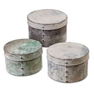 Uttermost Alina Aged Metal Boxes (Set of 3)