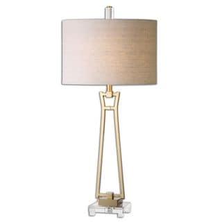 Leonidas 1-Light Gold Table Lamp