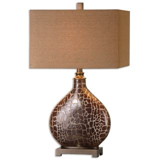 Somali Burnished Brown Table Lamp