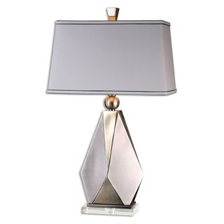 Taburno 1-light Antique Brushed Nickel Table Lamp