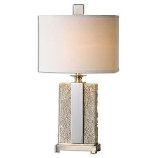 Uttermost Bonea 1-light Stone Ivory Table Lamp