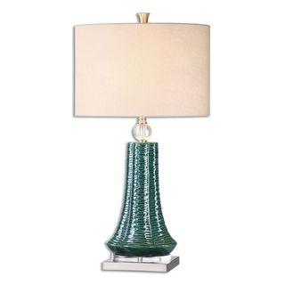 Uttermost Gosaldo 1-light Teal Table Lamp