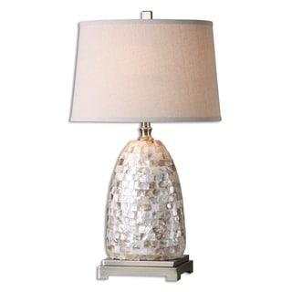 Uttermost Capurso 1-light Shell Table Lamp