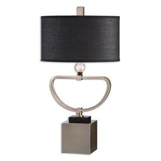 Veles 1-light Brushed Brass Table Lamp