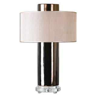Ellipse 3-light Metallic Bronze Table Lamp
