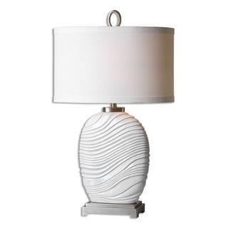 Valleve 1-light Gloss White Table Lamp