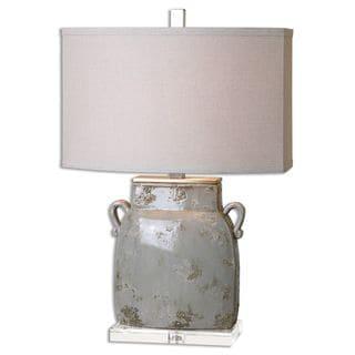 Uttermost Melizzano 1-light Ivory/ Grey Glaze Table Lamp