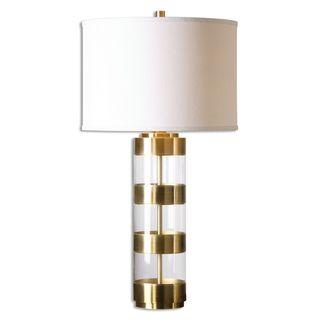 Uttermost Angora 1-light Brushed Brass Table Lamp
