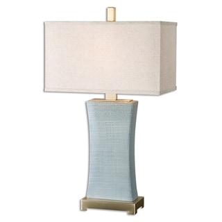Uttermost Cantarana 1-light Pale Blue Grey Table Lamp