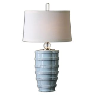 Uttermost Sassinoro 1-light Distressed Light Blue Table Lamp