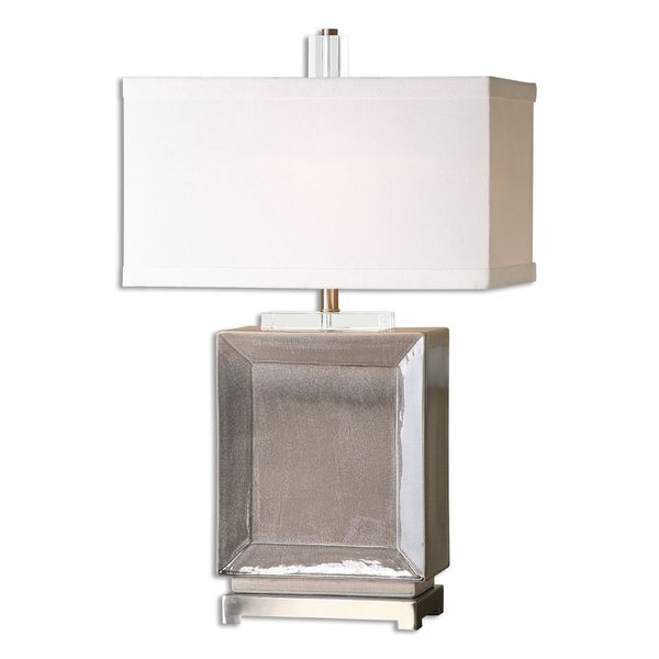 Uttermost Altura 1-light Crackled Grey Table Lamp