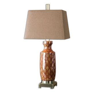 Aguilar 1-light Rust Red Drip Table Lamp