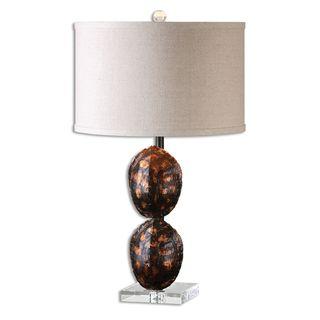 Awanata 1-light Tortoise Shell Table Lamp