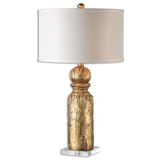 Lorenzello 1-light Antique Gold Leaf Table Lamp