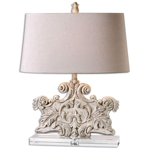 Uttermost 1-light Stone Ivory Table Lamp