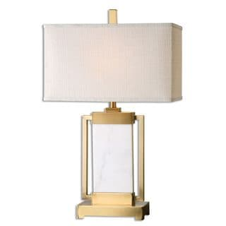 Marnett 1-light Marble and Brushed Brass Table Lamp
