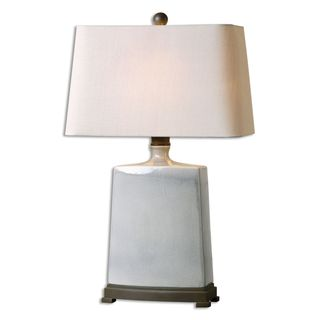 Baalon Gray 1-light Two-Tone Crackled Grey Table Lamp