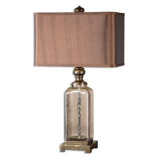 Valenzano Textured Amber Glass Table Lamp