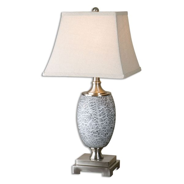 Uttermost Marittimo 1-light Textured Grey Glass Table Lamp