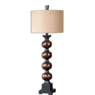 Massadona 1-light Antique Tortoise Shell Table Lamp