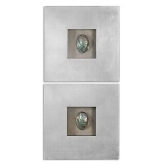 Uttermost Abalone Shells Silver Wall Art (Set of 2)