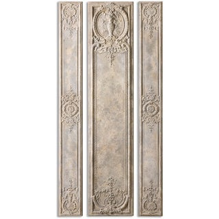 Uttermost Argentario Aged Ivory Panels (Set of 3)