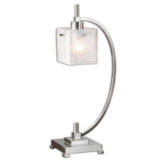 Uttermost Tacoa Curved Metal Brushed Nickel Task Lamp