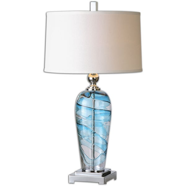 uttermost andreas 1 light blue accented table lamp. Black Bedroom Furniture Sets. Home Design Ideas