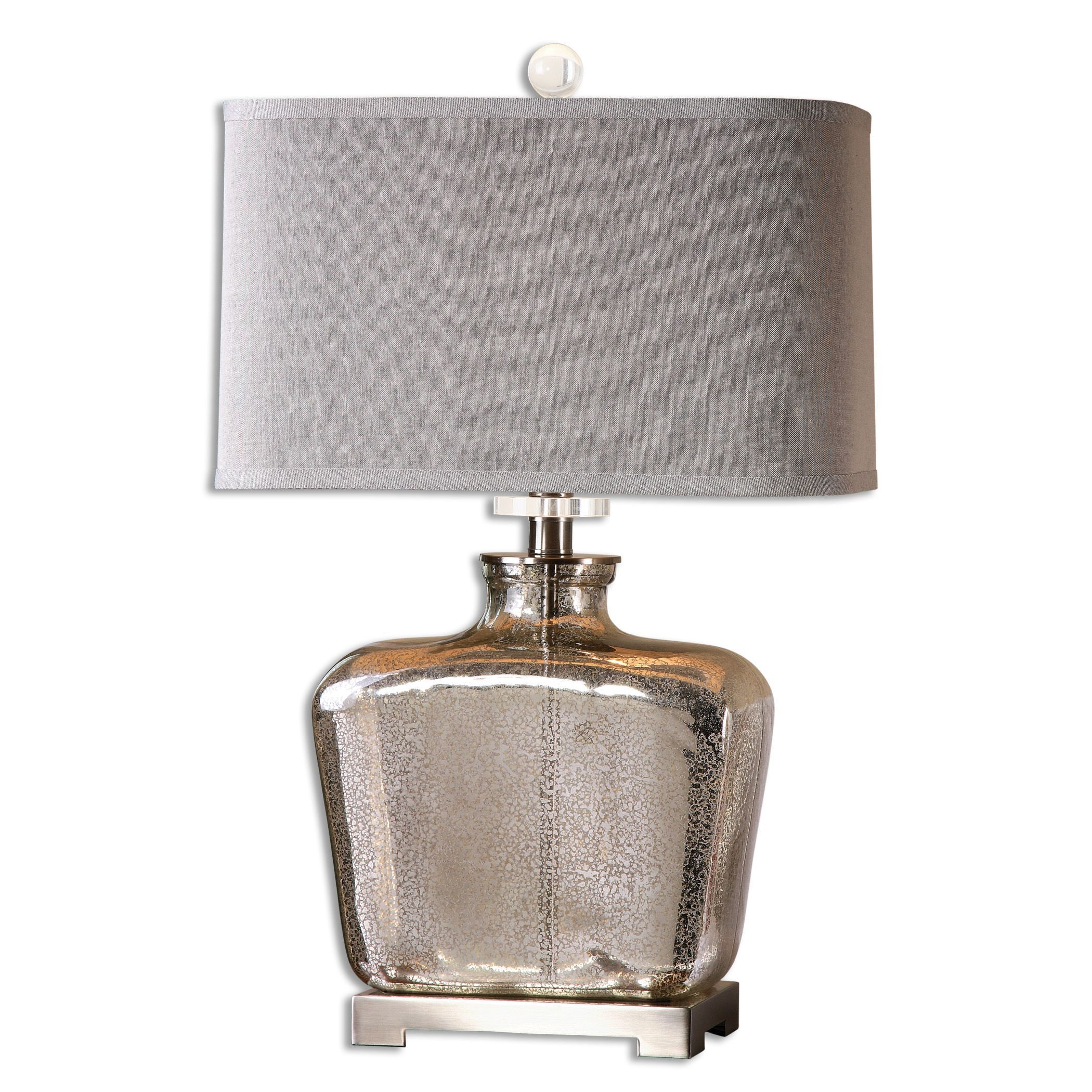 uttermost molinara 1 light speckled mercury glass table lamp. Black Bedroom Furniture Sets. Home Design Ideas
