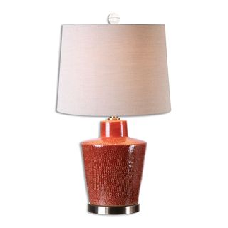 Cornell 1-light Brick Red Table Lamp