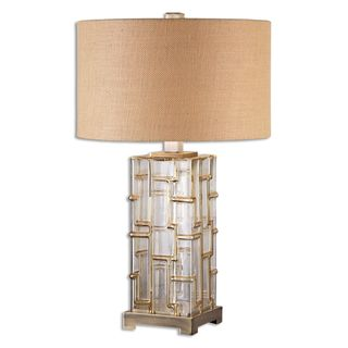 Uttermost Coburn 1-light Amber Glass Table Lamp