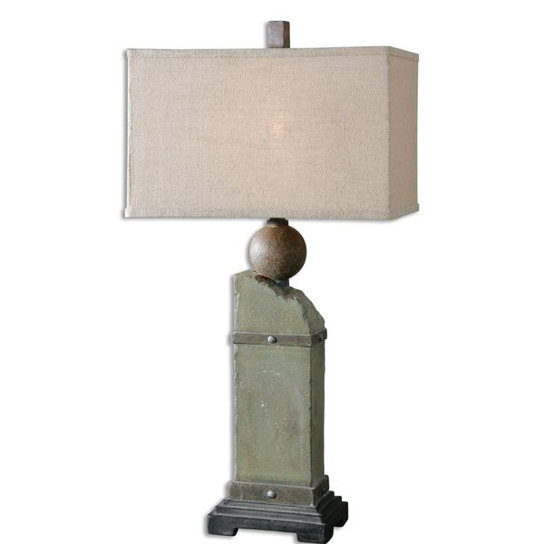 Uttermost Verdellino 1-light Moss Stone Grey Lamp