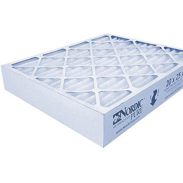 20 x 25 x 1 Nordic Pure MERV 12 A/C Furnace Air Filters (Pack of 6)