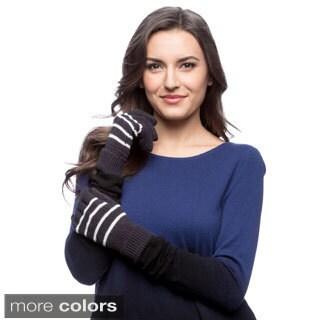 Nautica Blue Women's Bi-color Knit Gloves