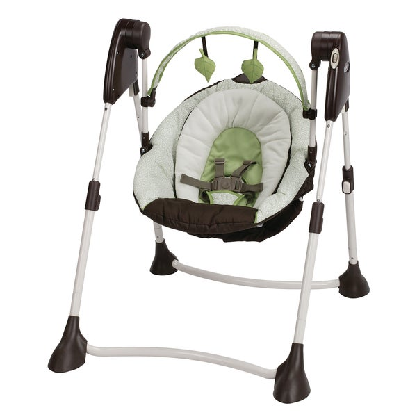 Graco Swing By Me 2-in-1 Portable Swing in Go Green