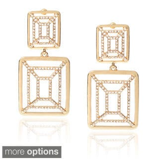 Journee Collection Brass Cubic Zirconia Fashion Dangle