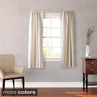 Heritage Landing Faux Silk 63-inch Curtain Panel Pair