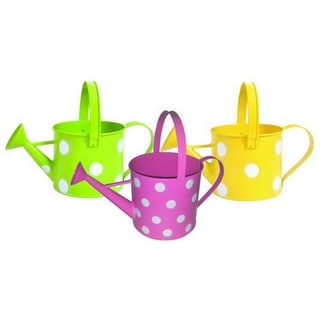 Assorted 5-inch Pastel/ Dots Watering Can (Set of 3)