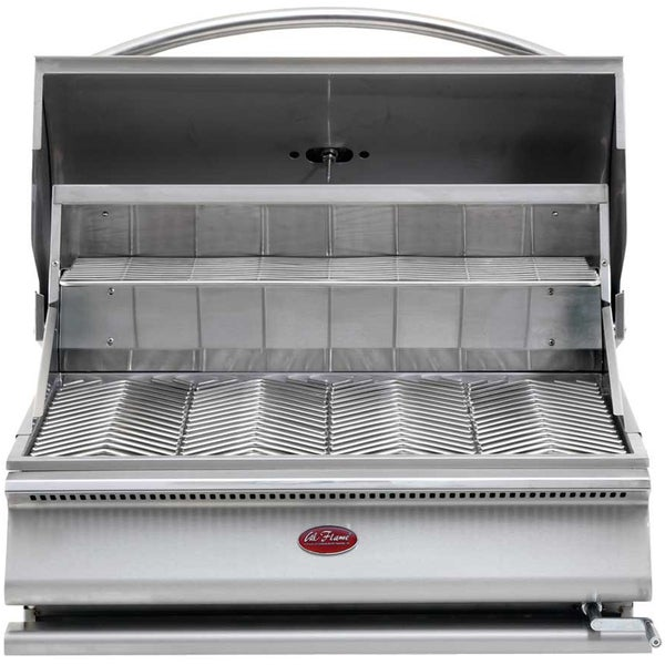 Cal Flame Gourmet Series Built-In Charcoal Grill With Adjustable Coal Tray
