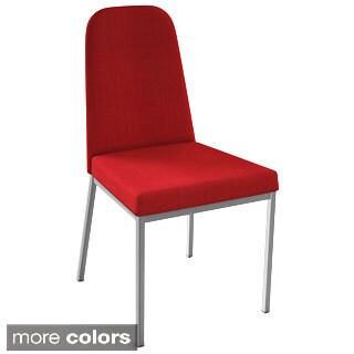 Leisuremod Asbury Modern Black Chrome Dining Chairs Set