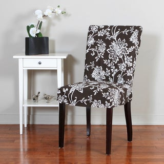 Verona 1-piece Floral Relaxed Fit Dining Chair Slipcover