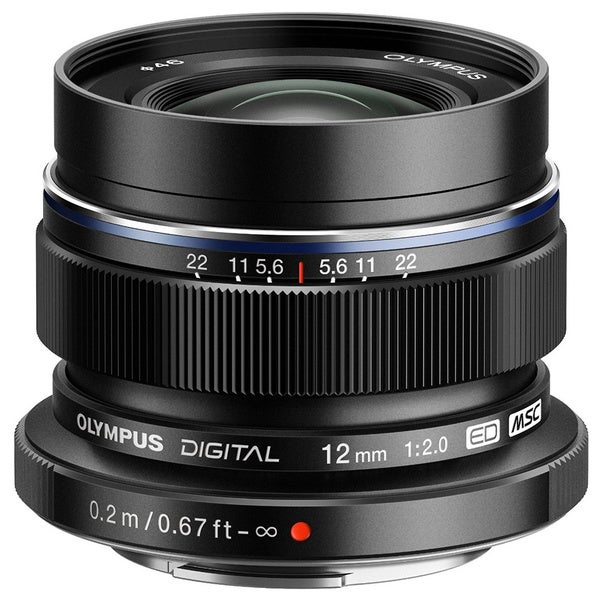 Olympus M.Zuiko 12 mm f/2 Wide Angle Lens for Micro Four Thirds