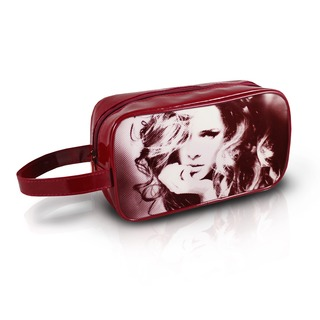 Jacki Design Burgundy Top Model Travel Cosmetic Bag