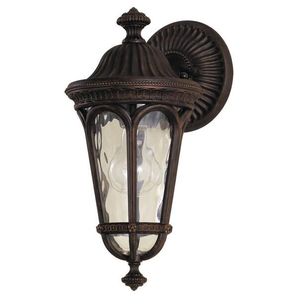 Single-light Regent Court Wall Lantern in Walnut