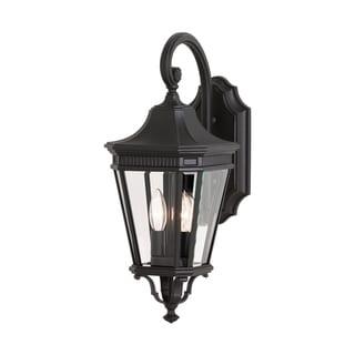 2 -light Cotswold Lane Wall Lantern in Black