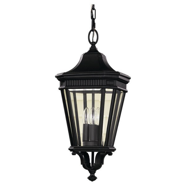 3 -light Cotswold Lane Pendant in Black