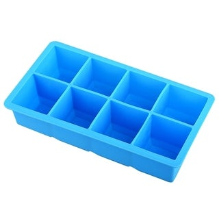 INSTEN Sky Blue Food-grade Silicone 8X Square Ice Tray Mold