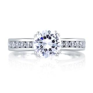 A JAFFE 18k White Gold 1ct TDW Diamond Bridal Set (G-H, VS1-VS2)