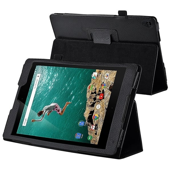 Insten Black Folio Flip Leather Slim Phone Case with Stand for Google Nexus 9