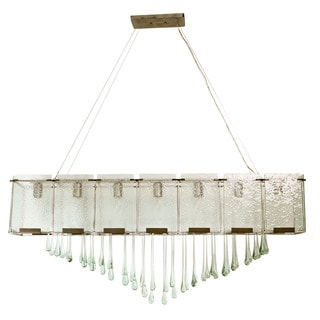 Varaluz Recycled Rain 7-Light Linear Pendant with Raindrops